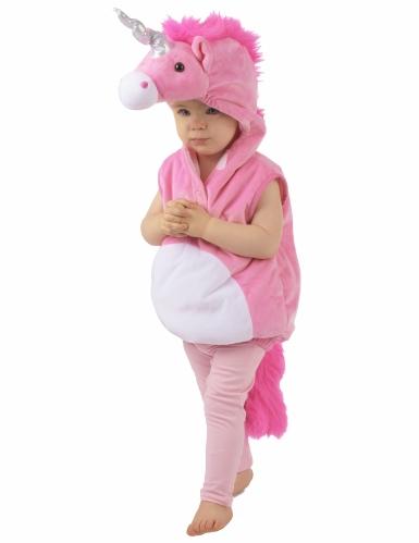 Costume unicorno rosa per bambina-3