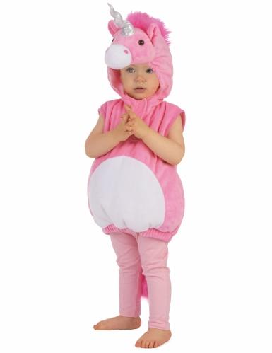 Costume unicorno rosa per bambina-4
