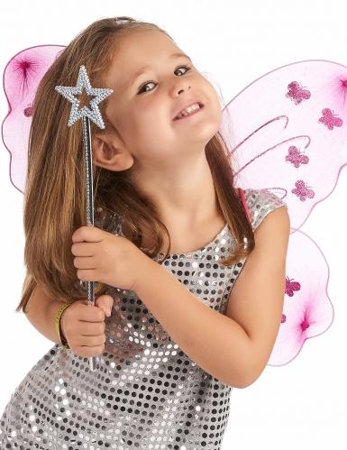 Bacchetta magica con stella blu per adulto e bambino-1