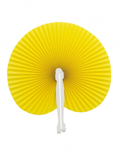 Ventaglio piegabile giallo
