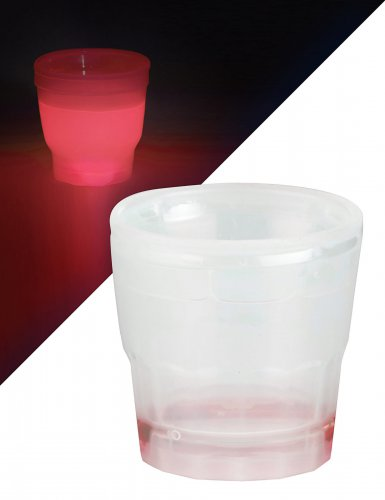 Mini bicchiere luminoso rosso