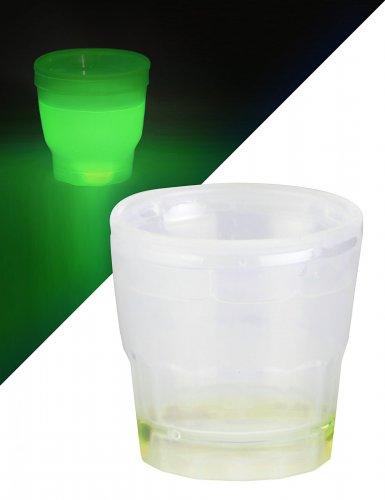 Mini bicchiere luminoso verde