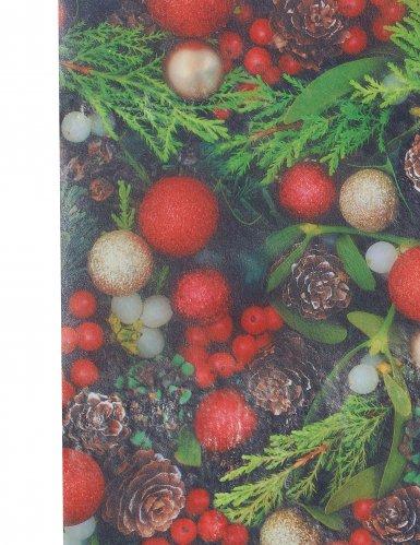 Runner da tavola agrifoglio di Natale-1