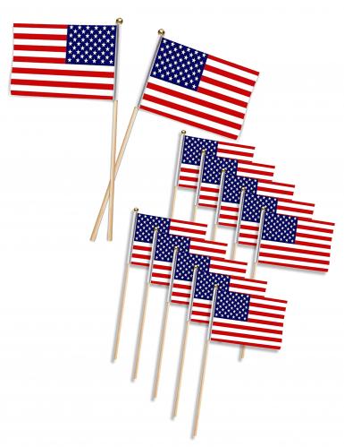 12 stecchini con bandiera USA