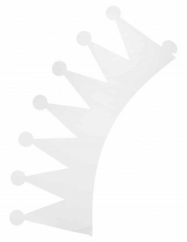 6 corone bianche in cartone da personalizzare per bambini