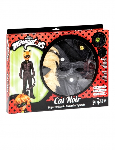 Cofanetto costume da Chat Noir Miraculous™ bambino-2