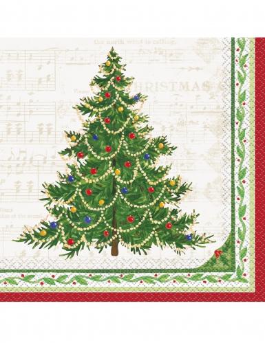16 tovaglioli di carta albero di Natale classico
