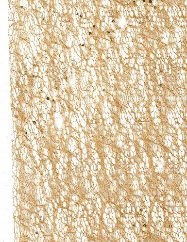 Runner da tavola metallizzato color oro-1