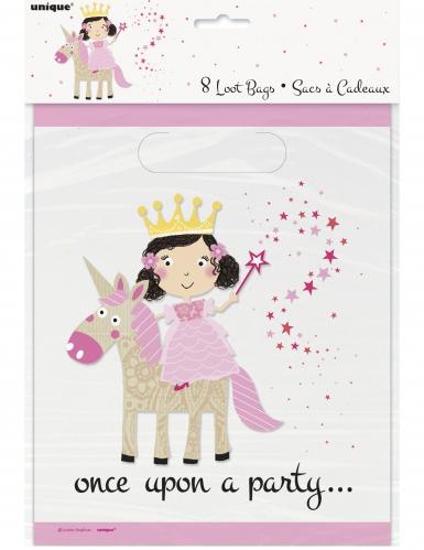 8 sacchetti per festa principessa e unicorno-1