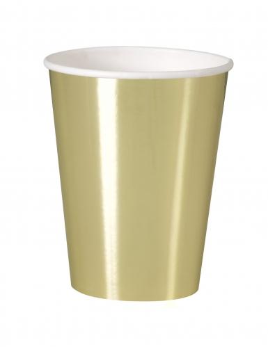 8 bicchieri in cartone oro metallizzato 25 cl