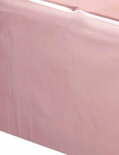 Tovaglia in plastica oro rosa-1