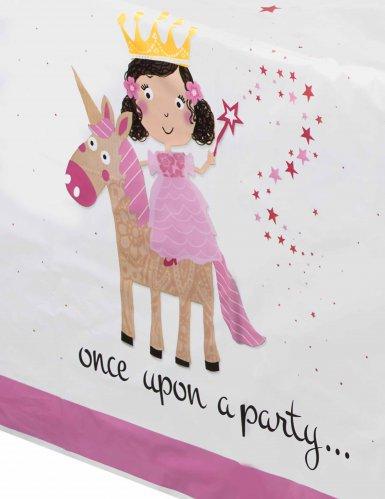 Tovaglia di plastica principessa e unicorno-1