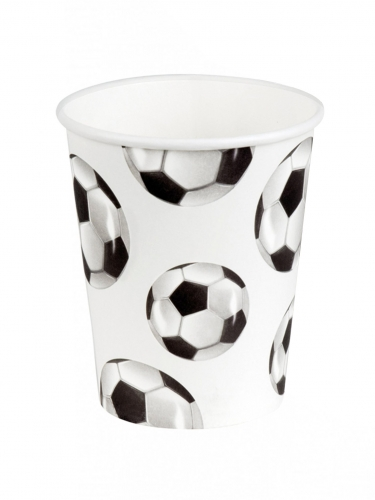 6 bicchieri in cartone festa calcio