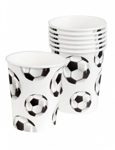 6 bicchieri in cartone festa calcio-1