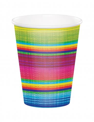 8 bicchieri in cartone poncho