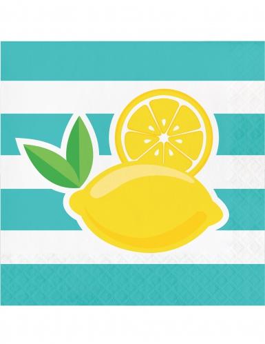 16 tovaglioli di carta limoni