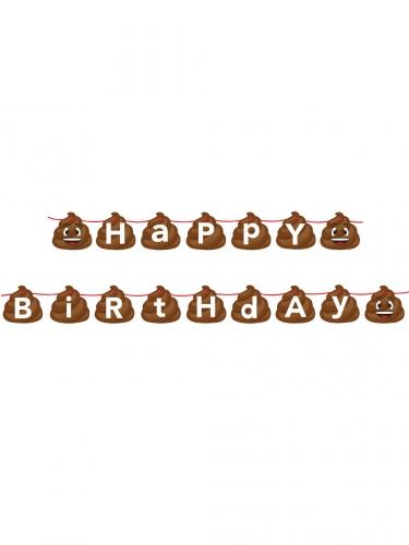 Ghirlanda di compleanno emoticon cacca