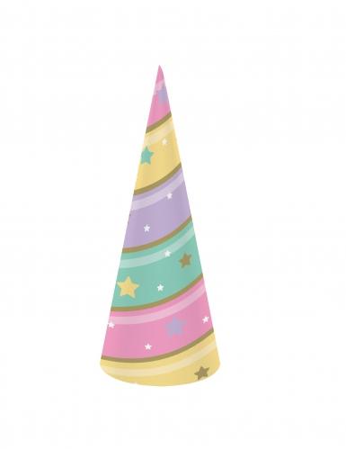 8 cappellini unicorno color pastello