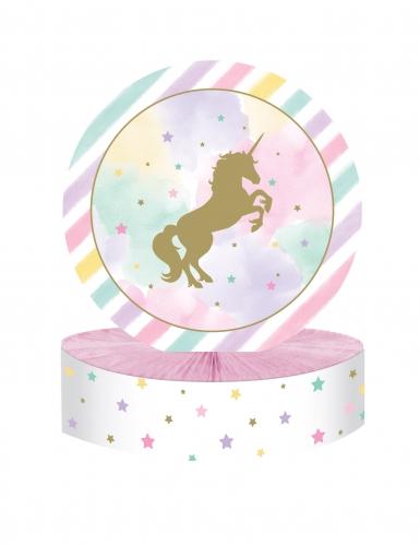 Centrotavola unicorno pastello