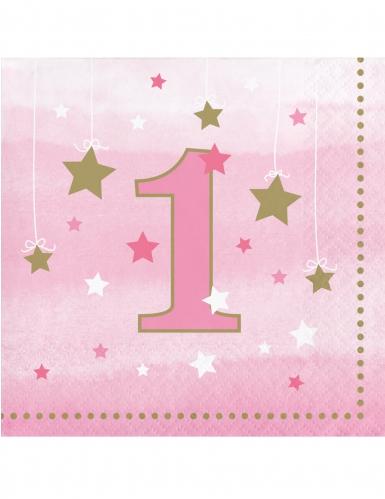 16 tovagliolini Little Star rosa 1 anno