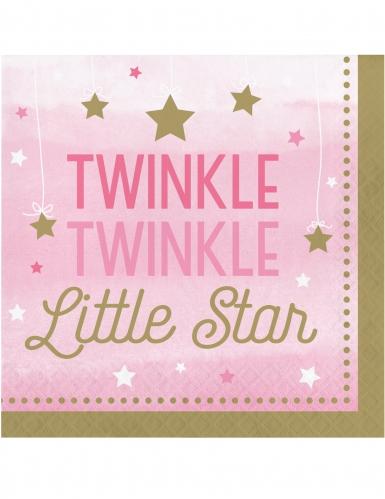 16 tovaglioli di carta Little Star rosa