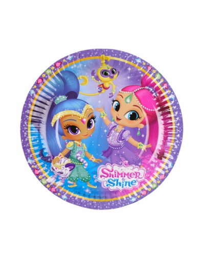 8 piattini in cartone Shimmer & Shine™ 18 cm