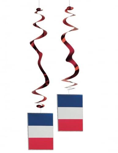 6 sospensioni a spirale bandiera Francia