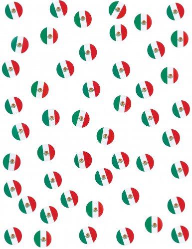 150 coriandoli da tavola bandiera Messico-1
