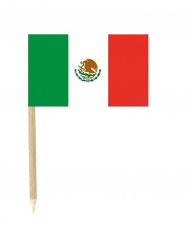 50 bandierine con stecchino Messico
