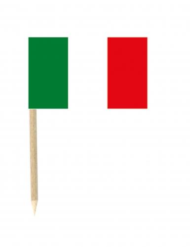50 bandierine di carta Italia