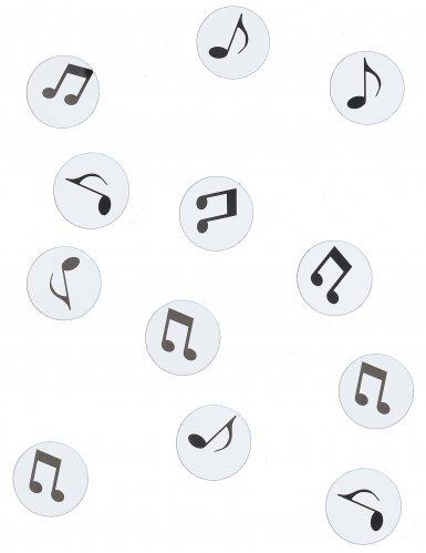 150 coriandoli da tavola con note musicali nere