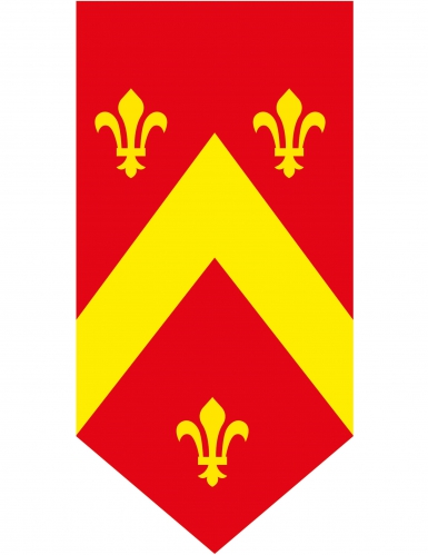 Banner verticale medievale rosso