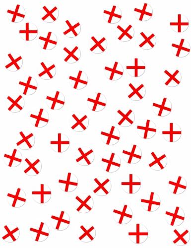 150 coriandoli da tavola bandiera Inghilterra-1