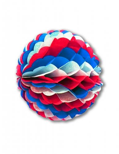 Sfera decorativa ignifuga blu rossa e bianca 25 cm