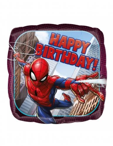 Palloncino di alluminio quadrato Happy Birthday Spiderman™