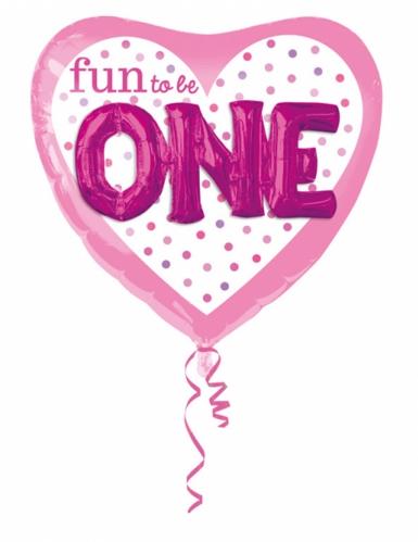 Palloncino alluminio Fun to be one rosa