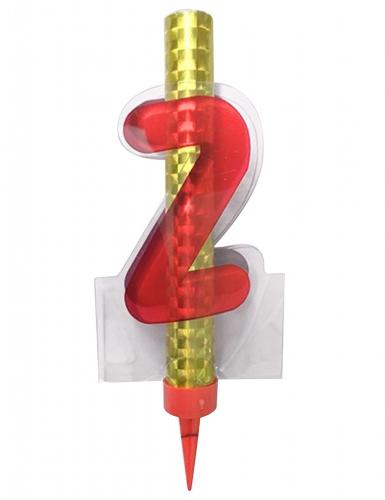 Fontana luminosa rossa numero 2