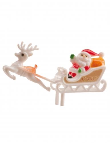 Decorazione per dolci Babbo Natale sulla slitta