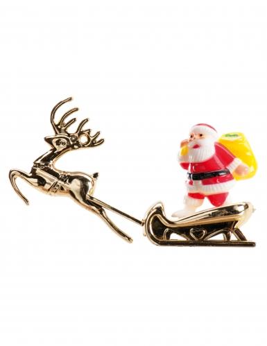 Decorazione per dolci Babbo Natale su slitta