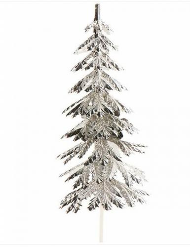 Decorazione per dolci albero di Natale argentato