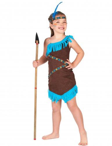 Cotume da indiano marrone per bambina