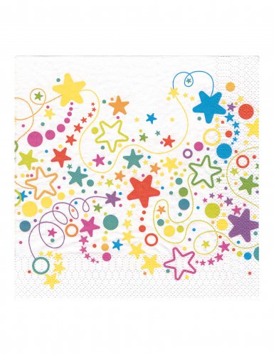 20 tovaglioli stelle e pois colorati