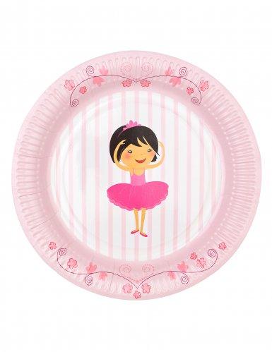 6 piatti in cartone piccole ballerine 23 cm