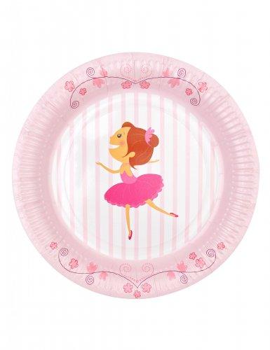 6 piatti in cartone piccole ballerine 23 cm-1