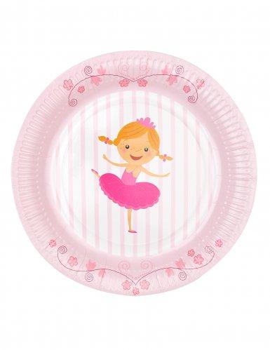 6 piatti in cartone piccole ballerine 23 cm-2