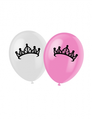 6 palloncini con stampa di Principesse