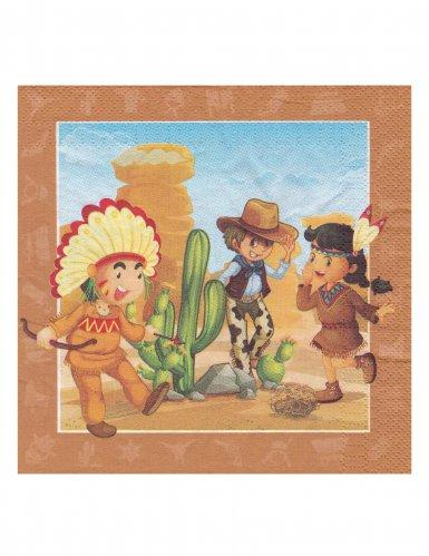 20 tovaglioli cowboy e indiani