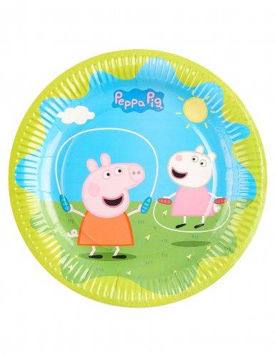 6 piatti di cartone colorati Peppa Pig™ 23 cm-1