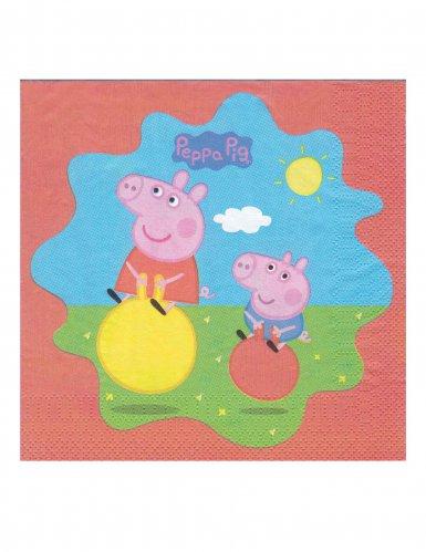 20 tovagliolini in carta Peppa Pig™ colorati