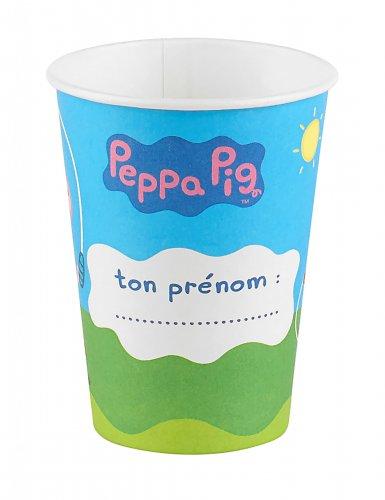 6 bicchieri in cartone Peppa Pig™-1